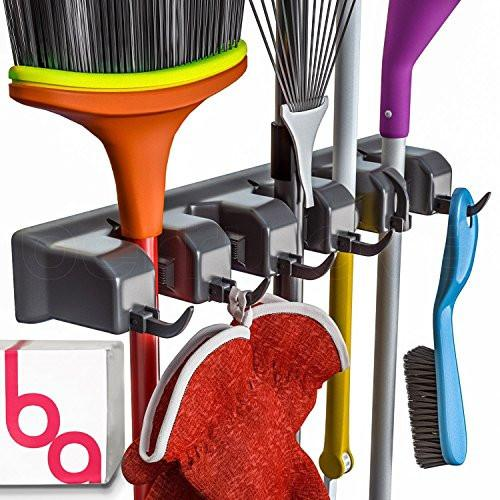 Berry Ave Broom Holder and Garden Tool Organizer for Rake or Mop Handles Up To 1.25-Inches - zingydecor
