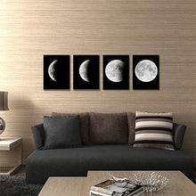 Load image into Gallery viewer, Modern Giclee Canvas Prints Stretched Artwork Abstract Space Black and White Pictures to Photo Paintings on Canvas Wall Art for Home Office Decorations Wall Decor 4pcs/set P4RAB018 - zingydecor