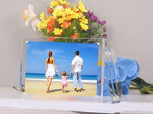 "Niubee Clear Acrylic Photo Frame 4x6"" Gift Box Package, Double Sided Magnetic Acrylic Block Picture Frames, Frameless Desktop Postcard Display - zingydecor"