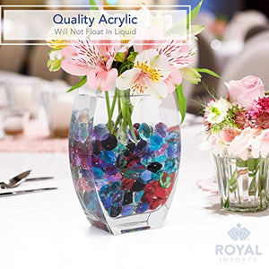 Acrylic Diamonds Gems Crystal Rocks for Vase Fillers, Party Table Scatter, Wedding, Photography, Party Decoration - zingydecor