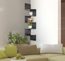 Load image into Gallery viewer, Greenco 5 Tier Wall Mount Corner Shelves Espresso - zingydecor