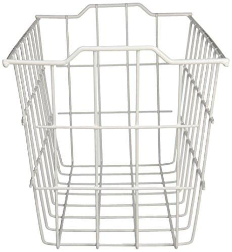 Grayline 40604, Deep Storage Basket, White - zingydecor