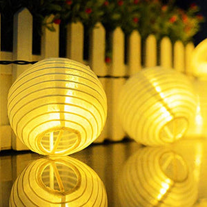 Novelty Place 8 inch White Paper Lanterns (Pack of 10) - Great Chinese/Japanese Home, Party & Wedding Decorations - zingydecor