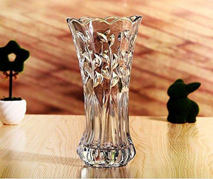 "SLY Flower Vase Glass Thickness Design For Home Decor,Wedding vase or Gift - 8""High x4""Wide, Clear With Gift Box - zingydecor"