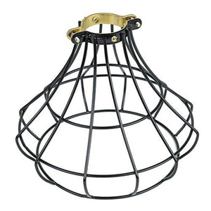 Industrial Vintage Style Light Cage Lampshade for Pendant Light Lamps Black