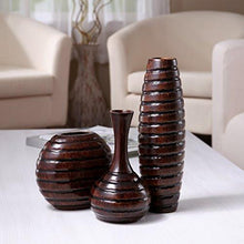 Load image into Gallery viewer, Hosley's Set of 3 Wood Vases