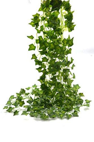 Image of 85-Ft 12 strands Artificial Flowers Fake Hanging Vine Plant Leaves Garland Home Garden Wall Decoration Ivy - zingydecor