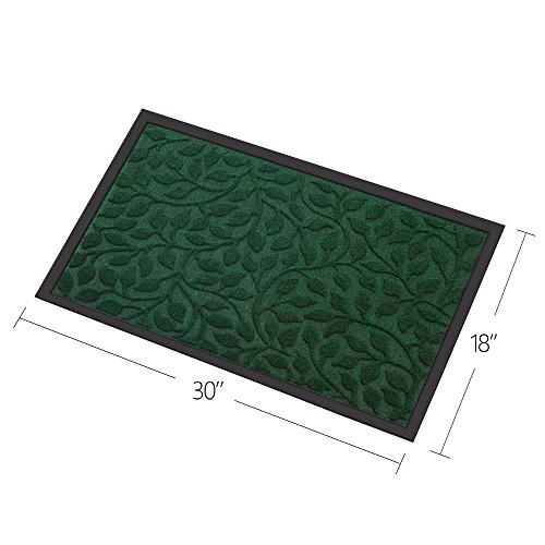 "Outside Shoe Mat Rubber Doormat for Front Door 18""x 30"" Outdoor Mats Entrance Waterproof Rugs Dirt Debris Mud Trapper Carpet for Patio Non Skid Doormats all Weather Exterior Door Mat Green"