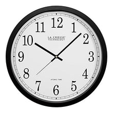La Crosse Technology WT-3143A-INT 14-Inch Atomic Wall Clock, Black