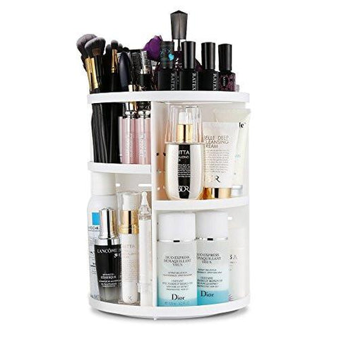 Image of Jerrybox 360 Degree Rotation Adjustable Multi-Function Cosmetic Storage Box, Large