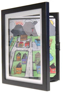 "Child Artwork Frame - Display Cabinet Frames And Stores Your Child's Masterpieces - 8.5"" x 11"" (Black) - zingydecor"