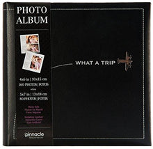 "Load image into Gallery viewer, 2UP TRAVEL PLANE ""WHAT A TRIP"" PHOTO ALBUM - zingydecor"