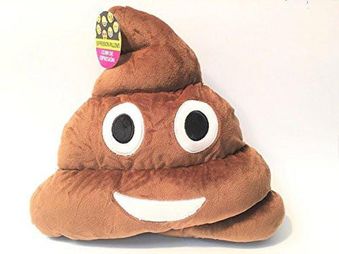 "11x12"" Poop Poo Emoji Emoticon Cushion Pillow Brown Stuffed USA Seller"
