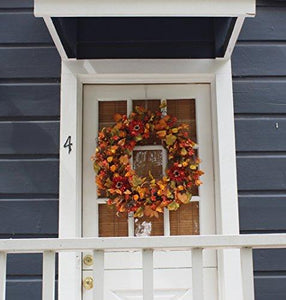 Highland Silk Fall Door Wreath - 22 inches - zingydecor