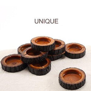 "Teagas 5.5"" Round Original Wooden Cigarette Ashtray, Outdoors and Indoors Ash Tray - zingydecor"
