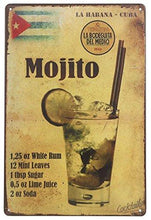 Load image into Gallery viewer, ERLOOD La Habana Cuba Mojito Drink Tin Sign Wall Retro Metal Bar Pub Poster Metal 12 X 8 - zingydecor