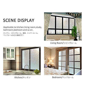 Window Film Privacy 3D Reuseable Heat Control UV Blocking Glass Panel Sticker, 35.4x78.7 Inches - zingydecor