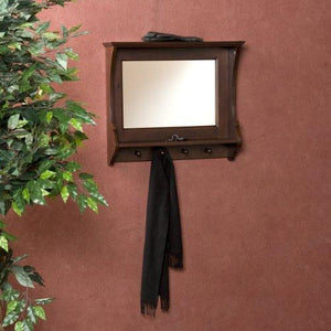 Southern Enterprises Chelmsford Entryway Wall Mount Mirror, Espresso Finish