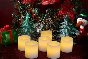 Flameless Candles, Flickering, Battery Powered, Real Wax, Realistic Decor Unscented, - 6 Pack, Yellow Light - Divine LEDs - zingydecor