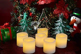 Flameless Candles, Flickering, Battery Powered, Real Wax, Realistic Decor Unscented, - 6 Pack, Yellow Light - Divine LEDs