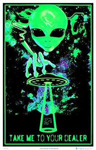 Take Me To Your Dealer College Blacklight Poster 24 x 36in - zingydecor