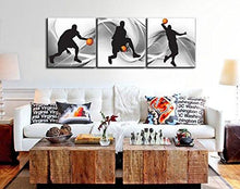 Load image into Gallery viewer, Natural art – Basketball Sports Themed Canvas Wall Art for Boys Room Baby Nursery Décor Kids Room Basketball Boys Gift - zingydecor