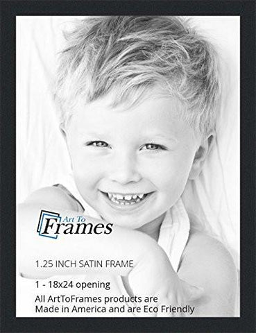Image of ArtToFrames 18x24 inch Satin Black Picture Frame