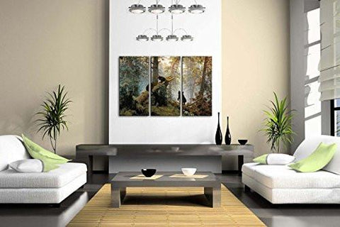 Bears Play In Forest Broken Tree Wall Art Painting The Picture Print On Canvas Animal Pictures For Home Decor Decoration Gift - zingydecor