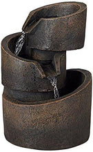 "Load image into Gallery viewer, 3-Tier Bronze Stone Contemporary 9 3/4""H Tabletop Fountain - zingydecor"