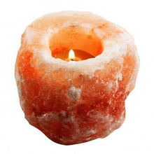 Load image into Gallery viewer, HemingWeigh Himalayan Natural Crystal Salt Rock Tea Light Candle Holder - 2 Pack - zingydecor