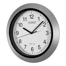 Load image into Gallery viewer, La Crosse Technology WT-3102S 10-Inch Atomic Analog Wall Clock, Silver