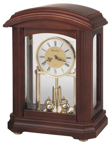 Bulova B1848 Nordale Clock, Walnut Finish - zingydecor