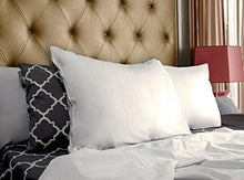 Load image into Gallery viewer, Cotton Sateen Zippered Pillow Cases - 2 Pack (Queen, White) - Sateen Pillow Cover for Maximum Softness - Easy Care, Elegant Double Hemmed Stitched Pillow Encasement, 300 Thread Count by Utopia Bedding - zingydecor