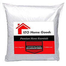 "Load image into Gallery viewer, IZO Home Goods Premium Hypoallergenic Stuffer Pillow Insert Sham Square Form Polyester, 18"" L X 18"" W, Standard/White"