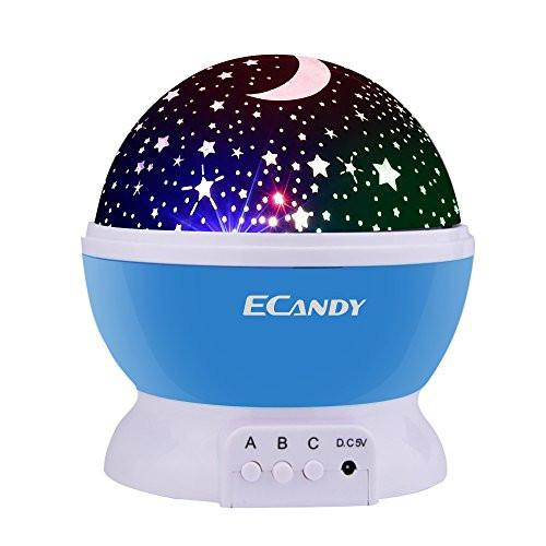 Ecandy Constellation Night Light Projector Lamp 360 Degree Rotating 3 Mode Romantic Cosmos Star...