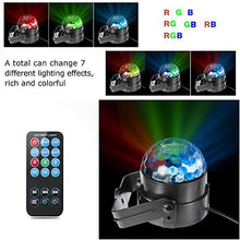Load image into Gallery viewer, TTF 3W Led Disco Lights with Sound Activated,DJ Stage Lights for Xmas, Party, Decoration, Birthday, Wedding, Ballroom, Bedroom, KTV, Bar, Outdoor, Club, Event and More (with Remote Control)
