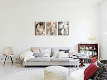 Load image into Gallery viewer, Canvas Wall Art Horse Painting Prints on Canvas Framed Ready to Hang - 3 Panels Vintage Abstract Horses Giclee Prints Fine Art Reproductions for Home and Office Decoration - zingydecor