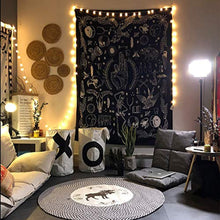 Load image into Gallery viewer, Jeteven Polyester Hanging Tapestry Wall Hanging Blanket Bedspread Beach Towels Picnic Mat Home Decor 165x148cm