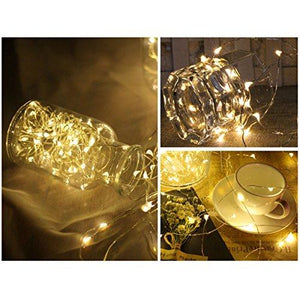 FRIEET Starry String Lights, 12 Pack Fairy Lights Battery Operated, 7.2ft 20LED Christmas Lights Silver Coated Copper Wire Lights Firefly Lights Moon Lights for Party Christmas Decorations(White) - zingydecor