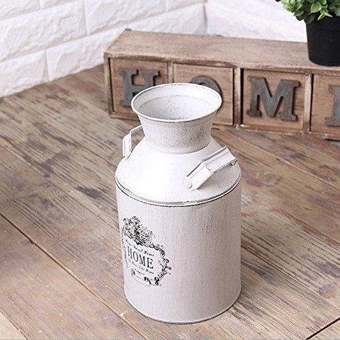 Image of Watering Honey French Style Country Rustic Primitive Jug Vase Milk Can for Home Decoration