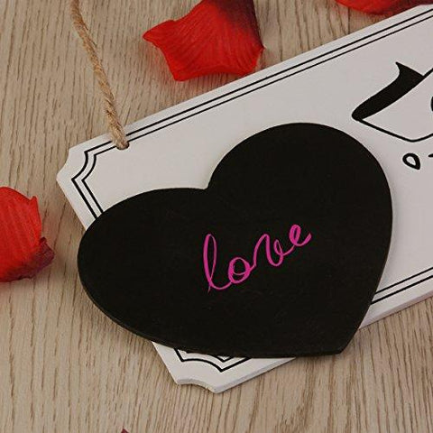 Image of LEORX Wooden Wedding Countdown Chalkboard Sign