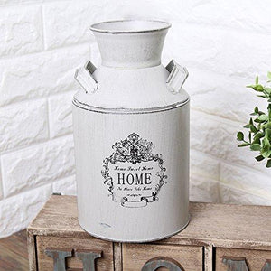 Watering Honey French Style Country Rustic Primitive Jug Vase Milk Can for Home Decoration