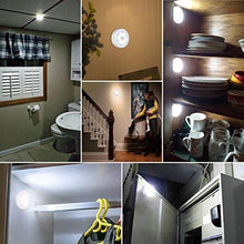 Load image into Gallery viewer, AMIR Motion Sensor Light, Cordless Battery-Powered LED Night Light, Stick-anywhere Closet Lights Stair Lights, Safe Lights for Hallway, Bathroom, Bedroom, Kitchen, etc. (White - Pack of 3) - zingydecor