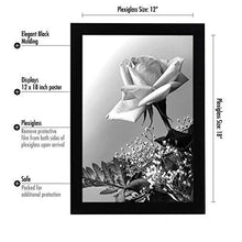 Load image into Gallery viewer, 12x18 Black Picture Frame with Plexiglas Front By Americanflat - Designed to Display Vertically or Horizontally on a Wall - Mounting Hardware Included - zingydecor