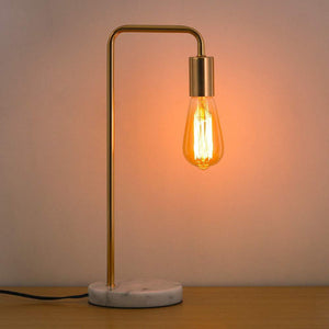 HAITRAL Desk Lamp Wooden Industrial Table Lamp for Office, Bedroom, Living room - zingydecor