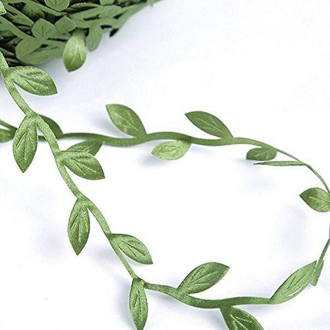 Image of 84 Yards Artificial Fake Vines, Artificial Leaf Garlands Fake DIY Vine Simulation Flower Foliage Green Leaves Decorative Home Wall Garden Wedding Party Wreaths Decor. - zingydecor
