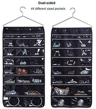 Load image into Gallery viewer, Misslo 44 Pockets Oxford Hanging Jewelry Organizer with Zipper Hanger - zingydecor
