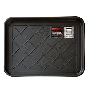 "Stalwart ECO Friendly Utility Boot Tray Mat, 20"" x 15""/Small, Black - zingydecor"