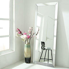 Floor Mirrors Full Length Large Size Mirrored Bevel Framed Mirror for Bedroom Sitting Room Bathroom (30'' x 70'') - zingydecor