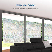 Rabbitgoo 3d No Glue Static Decorative Privacy Window Films for Glass Non-Adhesive Heat Control Anti Uv 23.6in. By 78.7in. (60 X 200cm) - zingydecor